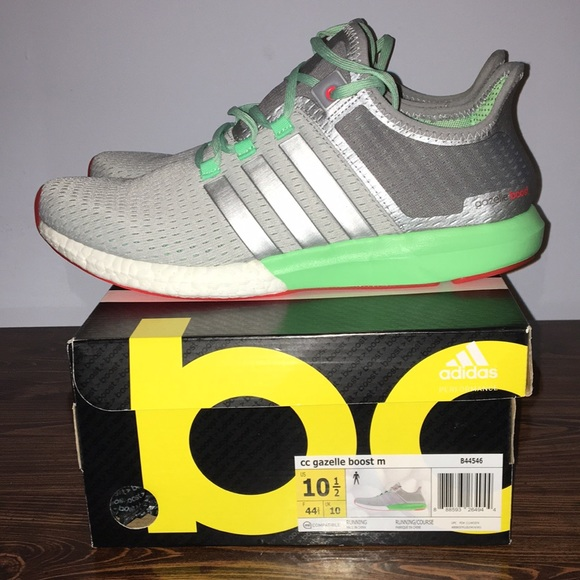Men's Adidas Gazelle Boost Gray Sneakers Size 10.5